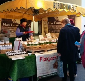 Do you want to know more about linseed (flax) ? Come and see us a Borough Market, by London Bridge Station.