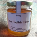 Raw organic English honey