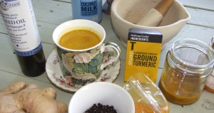 Turmeric-tea-and-ingredientS
