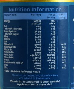 Engevita Yeast flakes nutritional information