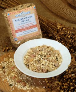 Golden linseed muesli