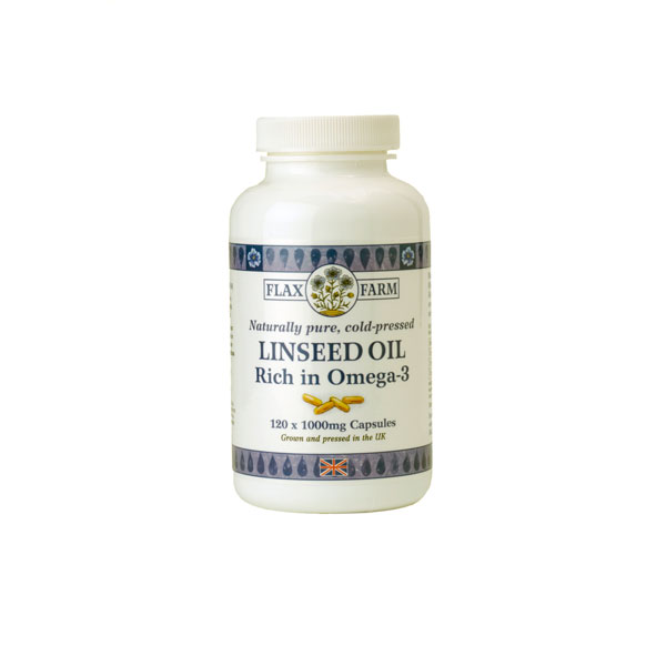 Flax Farm 1000mg linseed oil omega-3 capsules