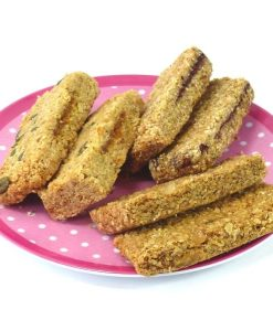 Dairy free flapjacks - Flaxjacks - selection unpacked Dairy-free linseed Flaxjacks, healthy vegan flapjacks style cakes.