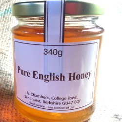 Pure Organic Raw English Honey 12oz, 340g