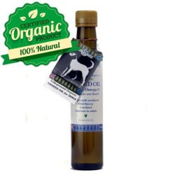 Organic cold-pressed linseed oil dogs