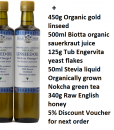 Linseed flaxseed oil and other essentials needed for Budwig diet