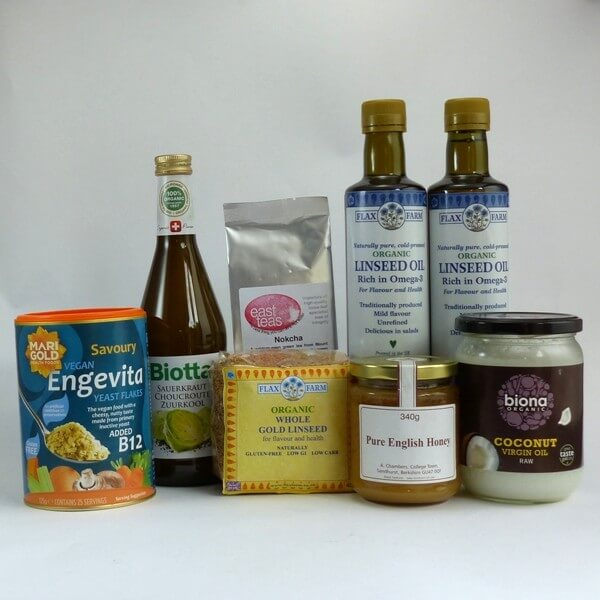 Selection of Budwig diet compatible foods for first ten days - ideal to give the diet a try or as a starter pack to get you going.