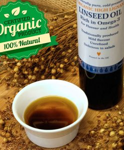 Organic high lignan linseed oil