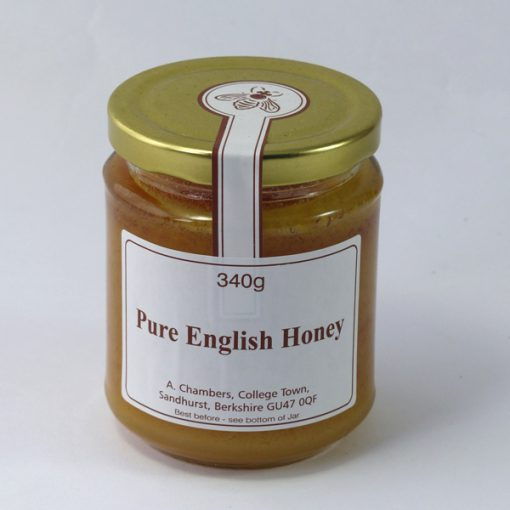 Raw cold-extracted English honey