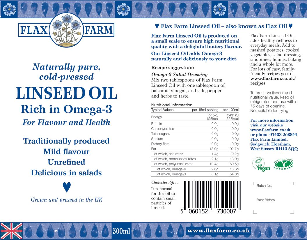 linseed oil label