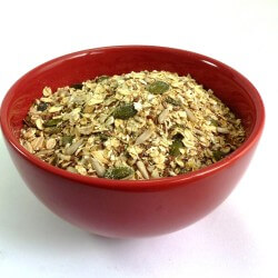 Bowl of Gluten-free Linseed Muesli base