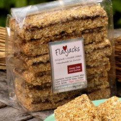 Gooey date and quinoa flapjacks - healthy flapjacks with linseed, gluten-free & vegan