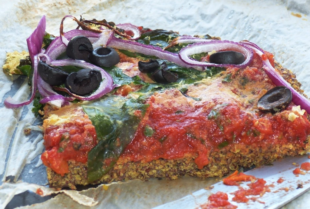 Vegan Linseed (flax) gluten-free pizza base