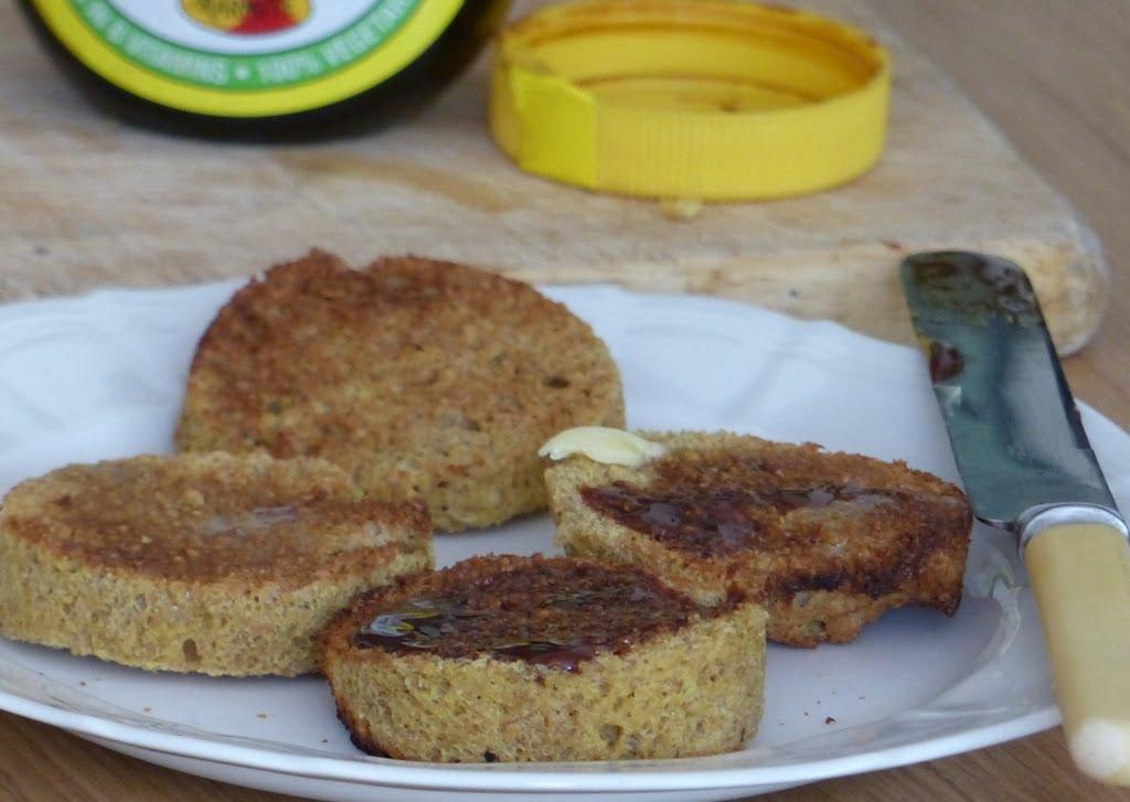 2 minute flax muffin - quick bread