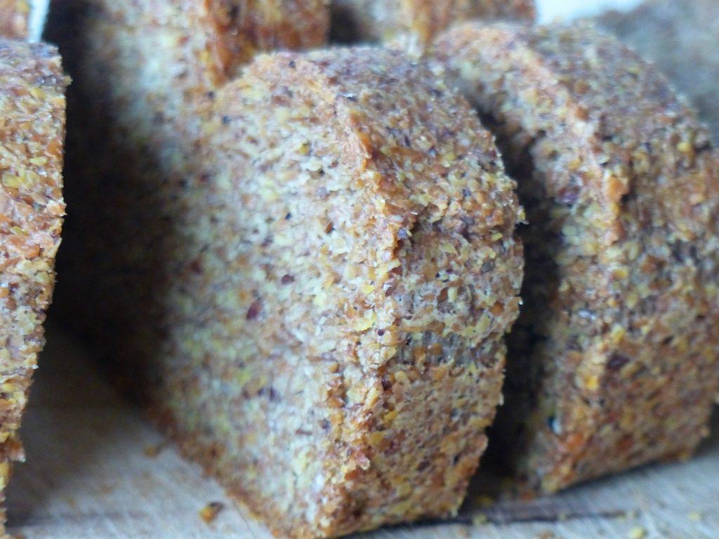 Simple Flax Bread, Gluten-Free, Wheat-Free, Carb-Free, Vegan, Paleo