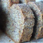 Simple Flax Bread, Gluten-Free, Wheat-Free, Carb-Free, Vegan, Paleo