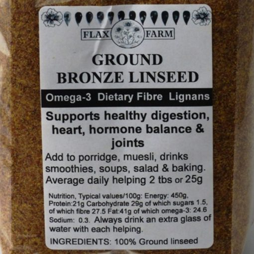 Ground-bronze-linseed flax