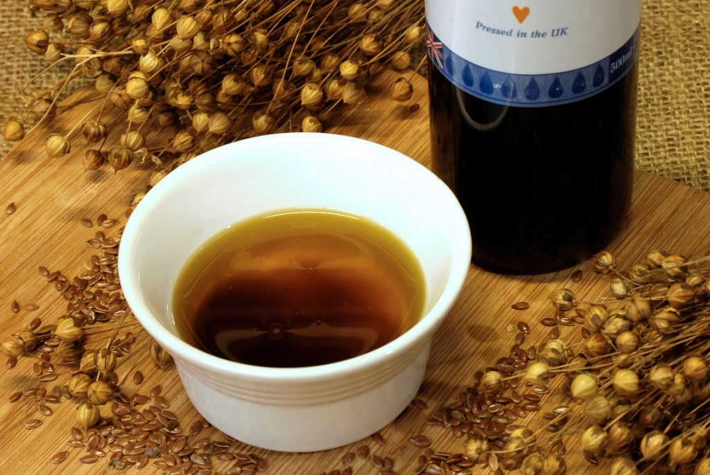 Cold-pressed high lignan linseed flax seed oil